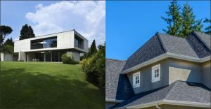 steep vs low sloped roofs